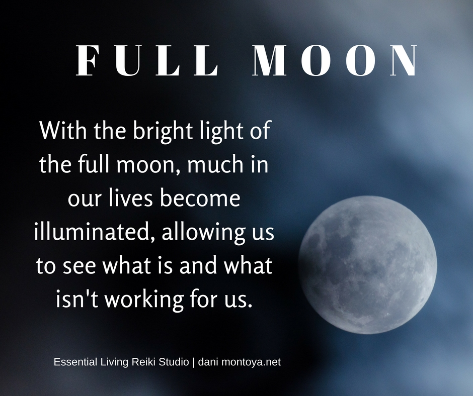 Full Moon- A time for releasing